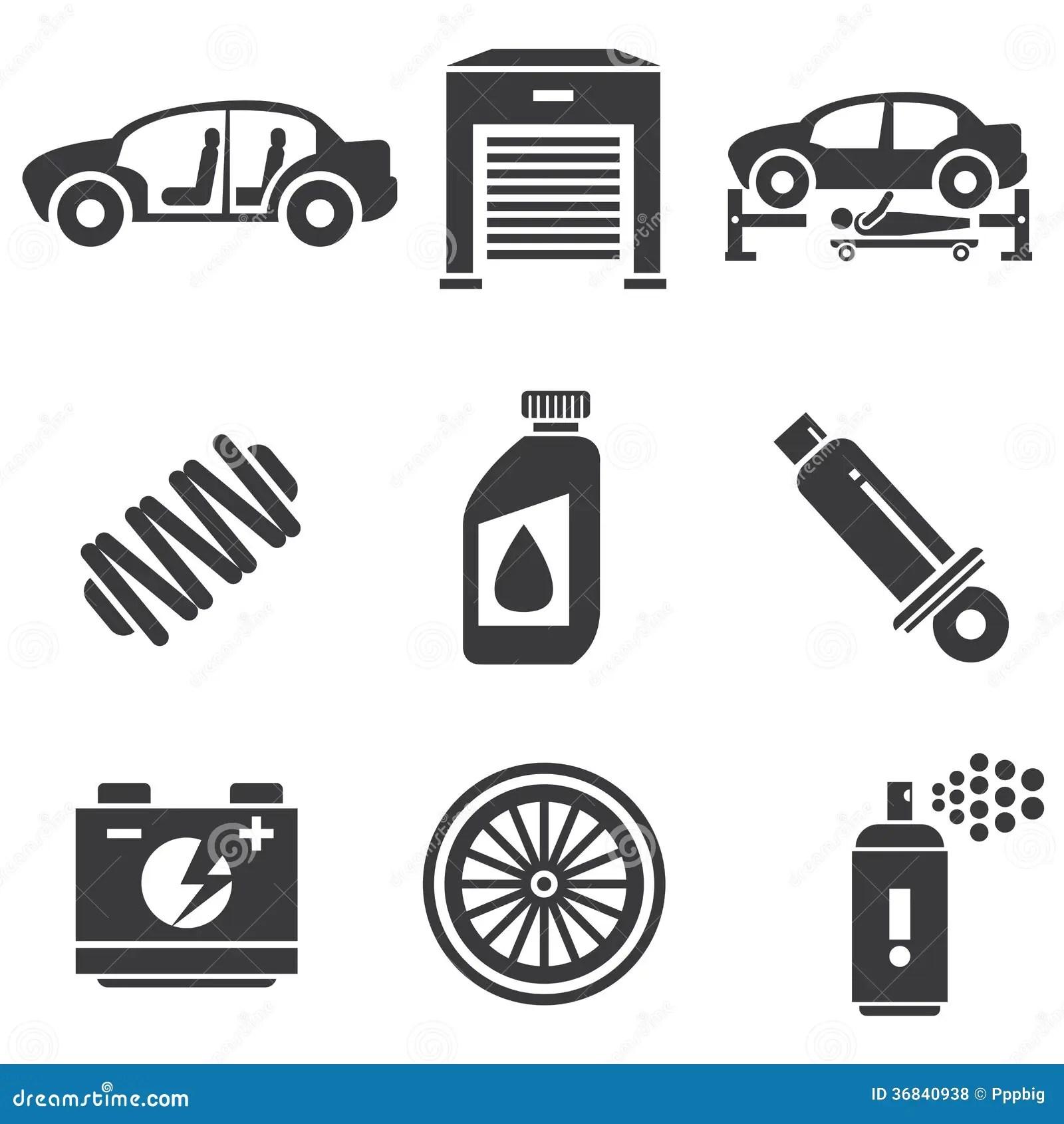 Automotive Icons Stock Illustration Image Of Power