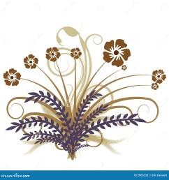 beautiful autumn abstract vector floral design [ 1300 x 1390 Pixel ]