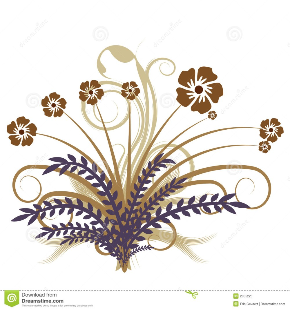 medium resolution of beautiful autumn abstract vector floral design
