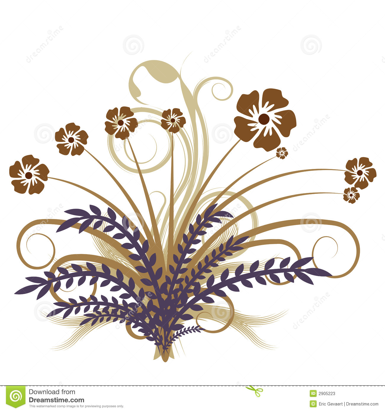 hight resolution of beautiful autumn abstract vector floral design