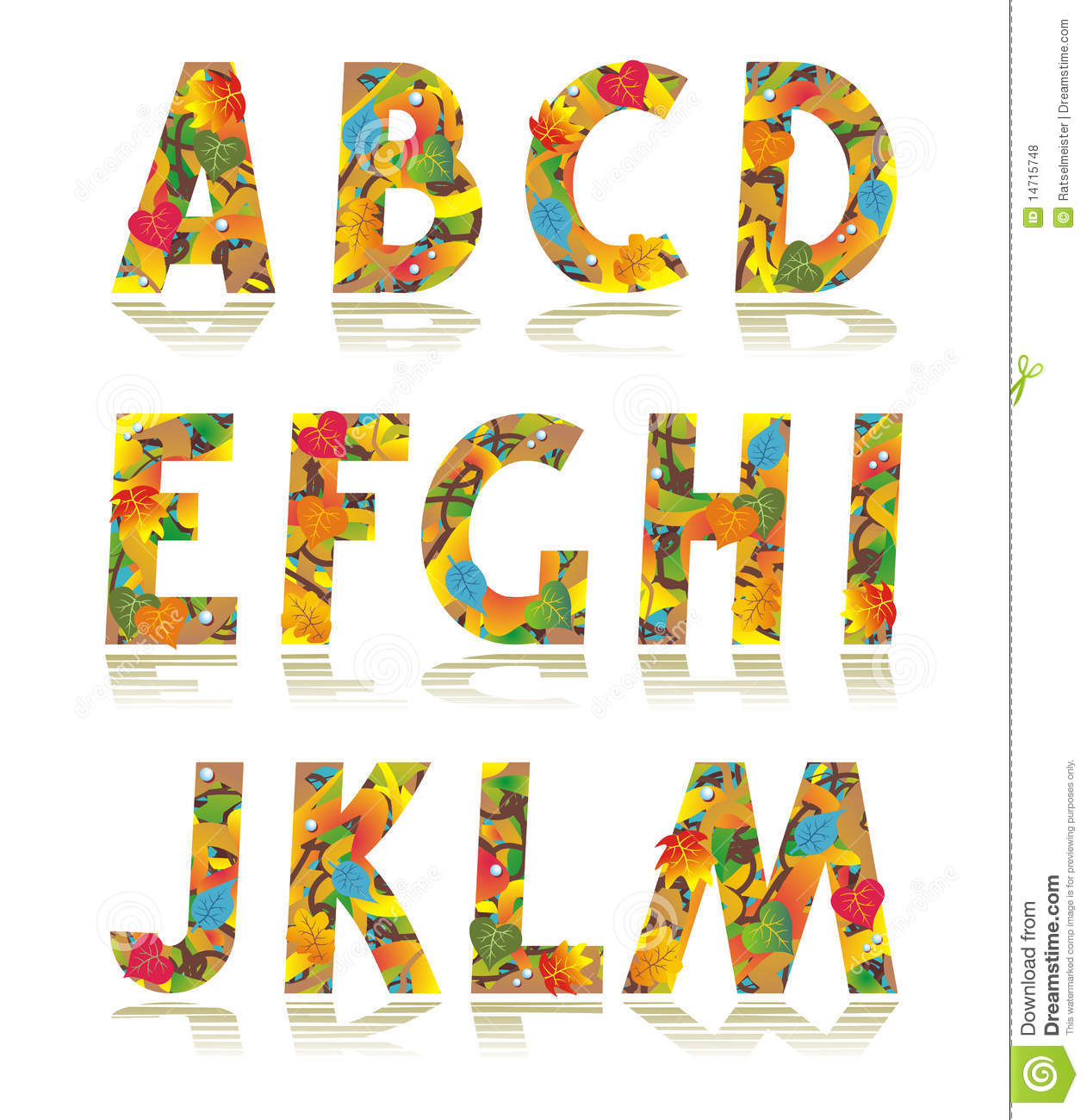 Autumn Alphabet Set Letters A