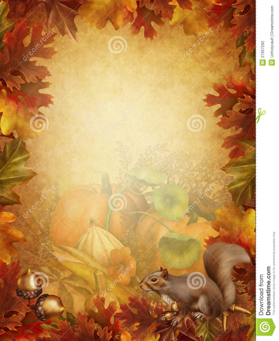 Fall Harvest Wallpaper Christian Autumn Background With A Squirrel Stock Photography