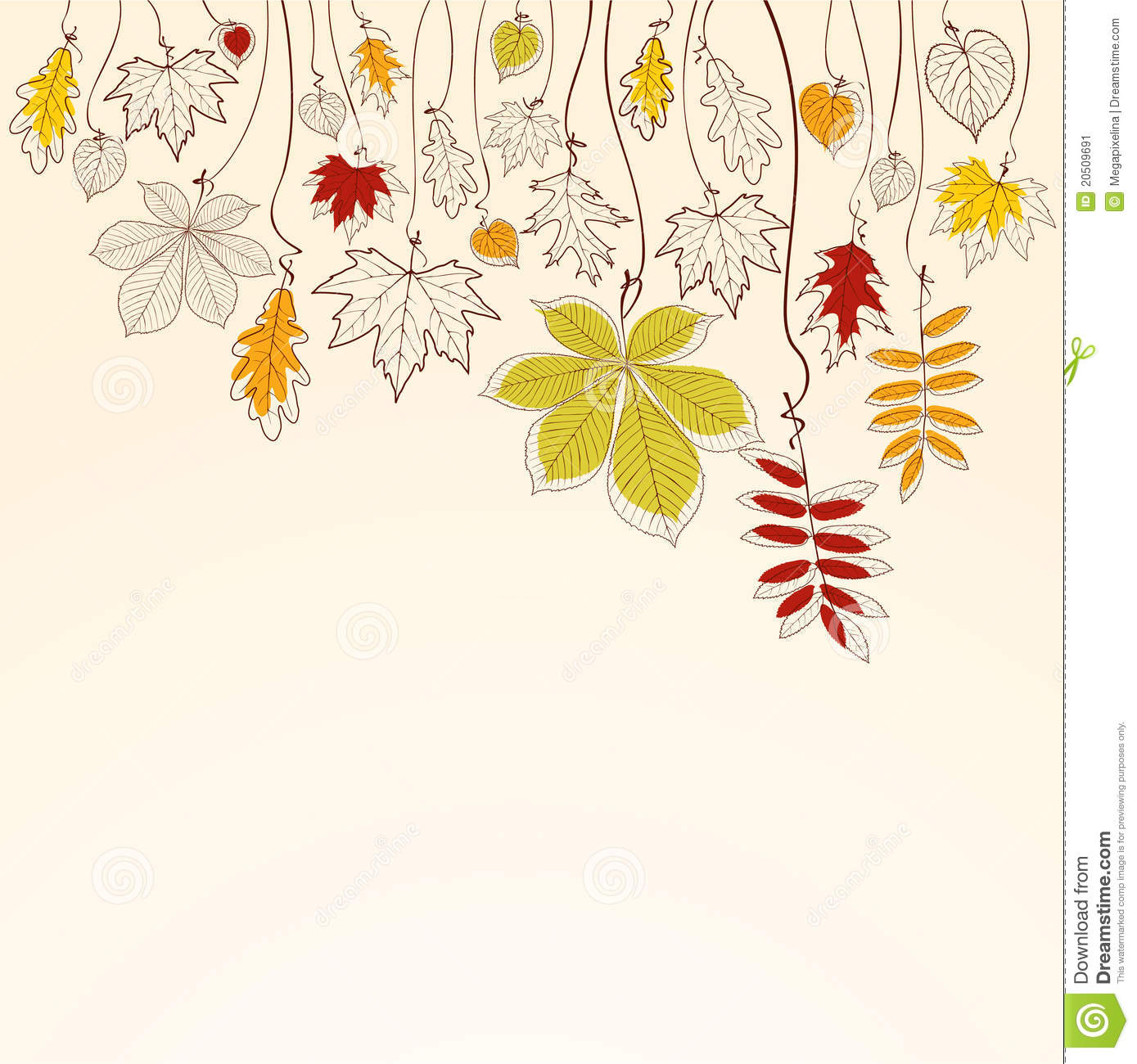 Autumn Tree Leaf Fall Animated Wallpaper Autumn Falling Leaves Background Stock Vector