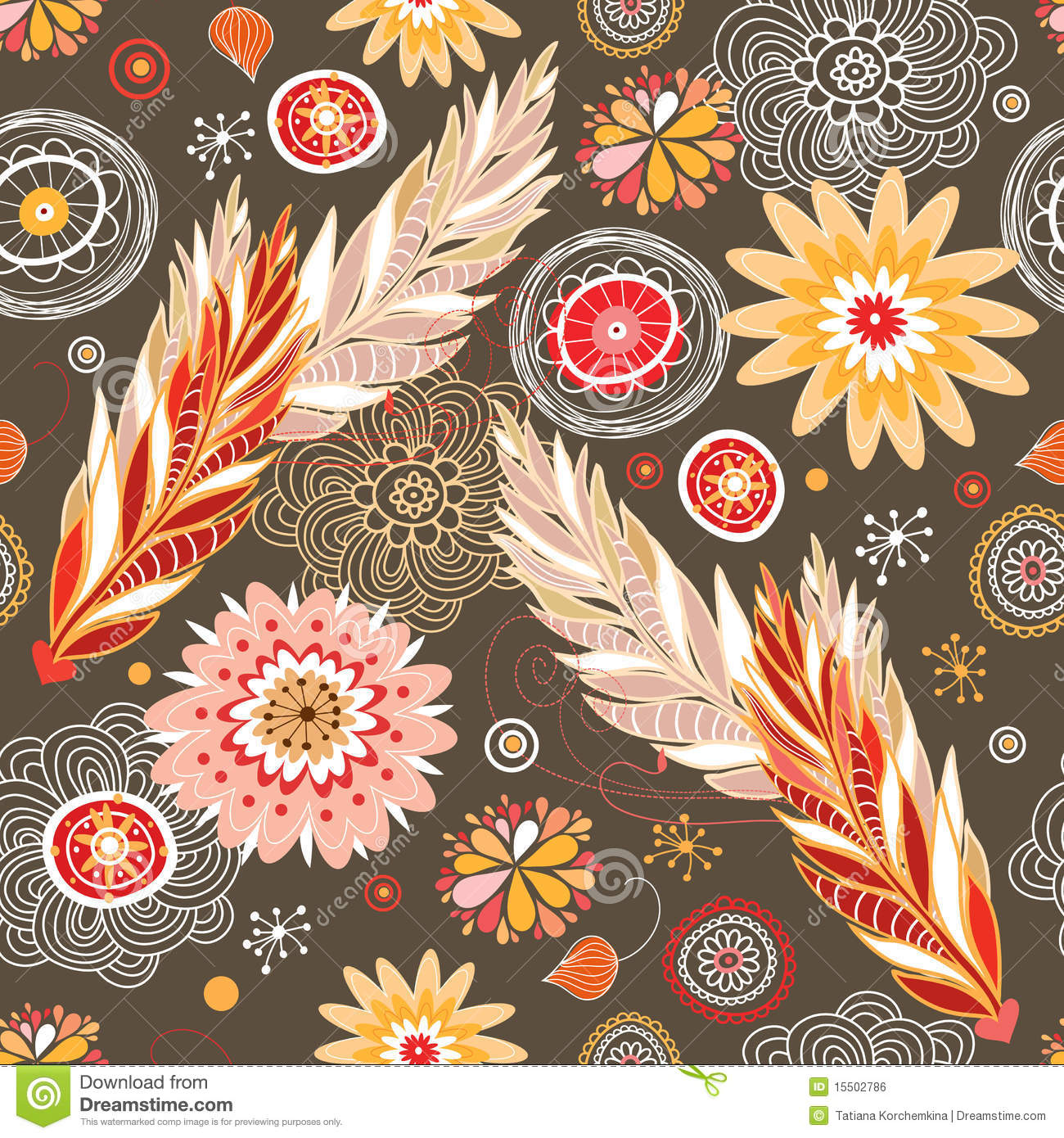 Free Desktop Wallpaper Fall Foliage Autumn Floral Patterns Stock Vector Illustration Of Brown