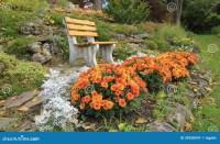 Autumn Flowers In A Rock-garden Ontario, Canada Stock ...