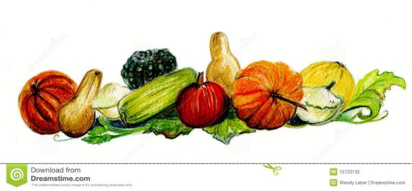 autumn harvest pumpkins and squash