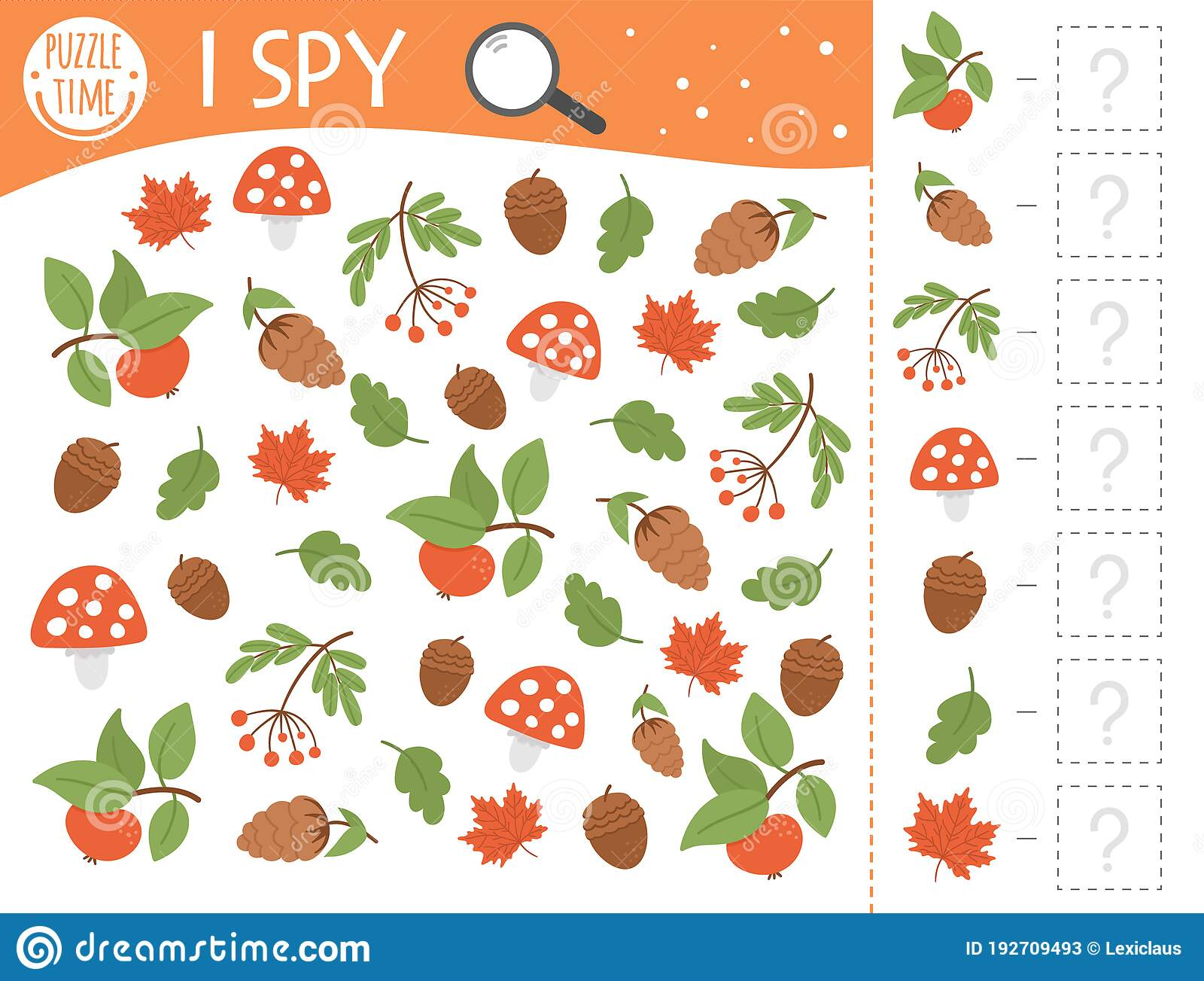 Autumn I Spy Game For Kids Searching And Counting