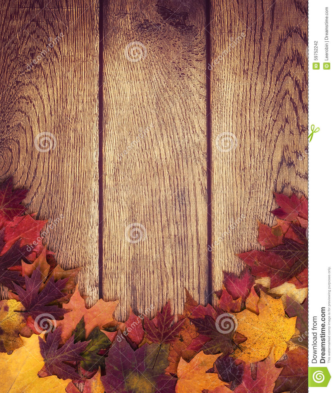 Fall Leaves Wallpaper Powerpoint Background Autumn Leaves Border Against Wood Background Stock Photo