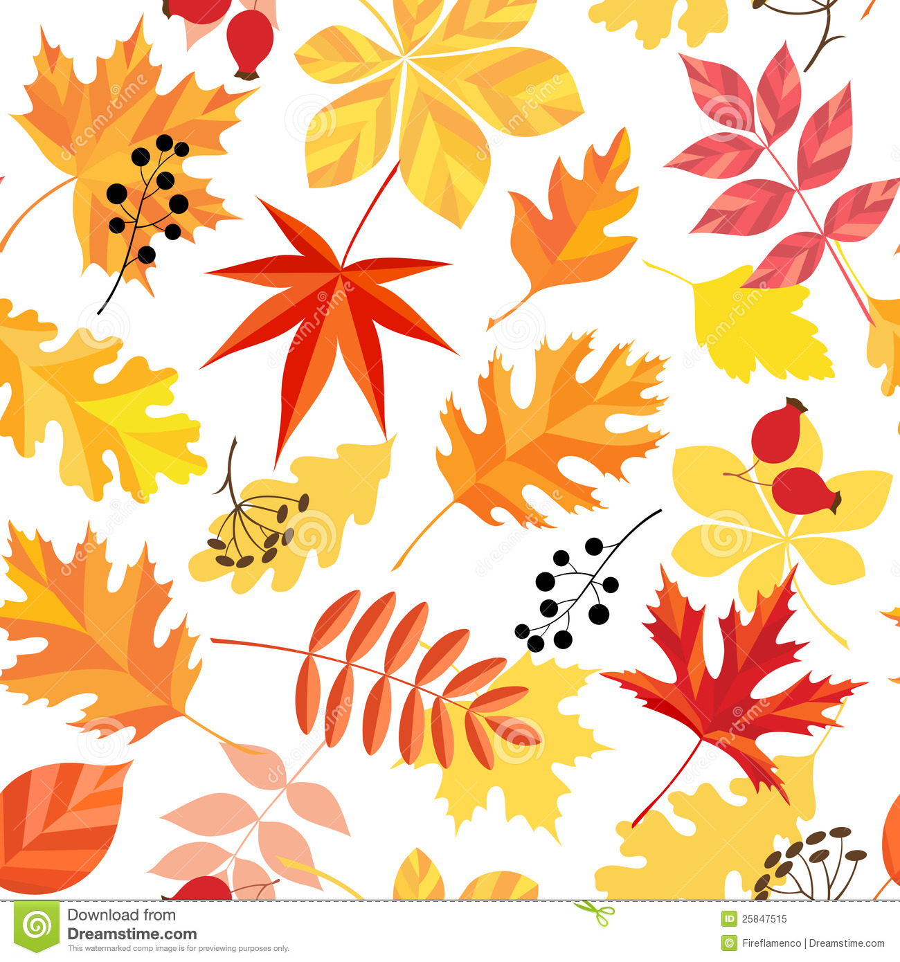 Fall Maple Leaf Tiled Wallpaper Autumn Leaves Pattern Royalty Free Stock Photo Image