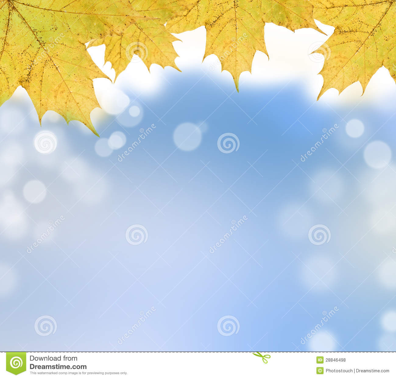 Free Fall Foliage Wallpaper Autumn Leaves On Soft Background Stock Illustration