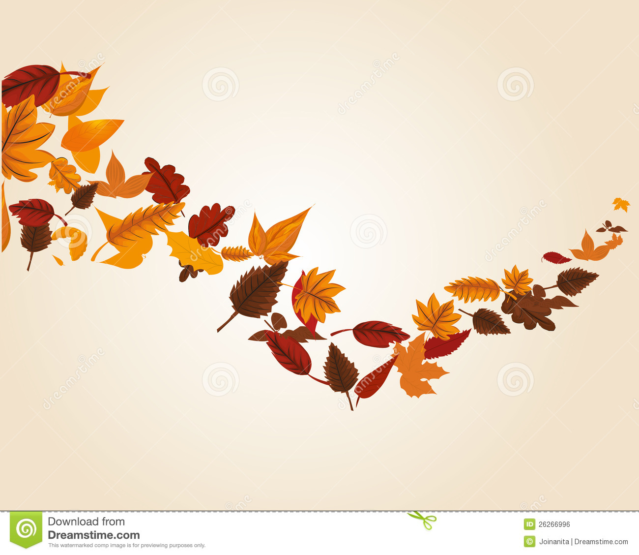 Maple Leaf Wallpaper For Fall Season Autumn Leaves Swirl Royalty Free Stock Image Image 26266996