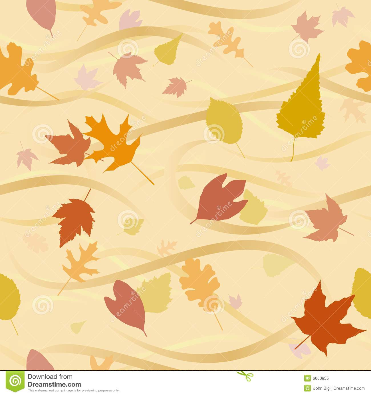 Fall Maple Leaf Tiled Wallpaper Autumn Wind Background Stock Vector Illustration Of
