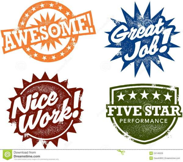 awesome performance reward stamps