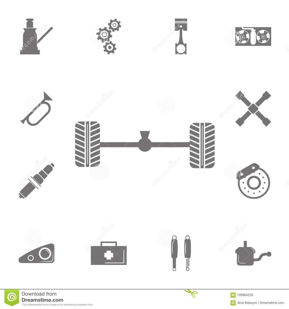 medium resolution of axle and wheel car icon set of car repair icons signs of collection