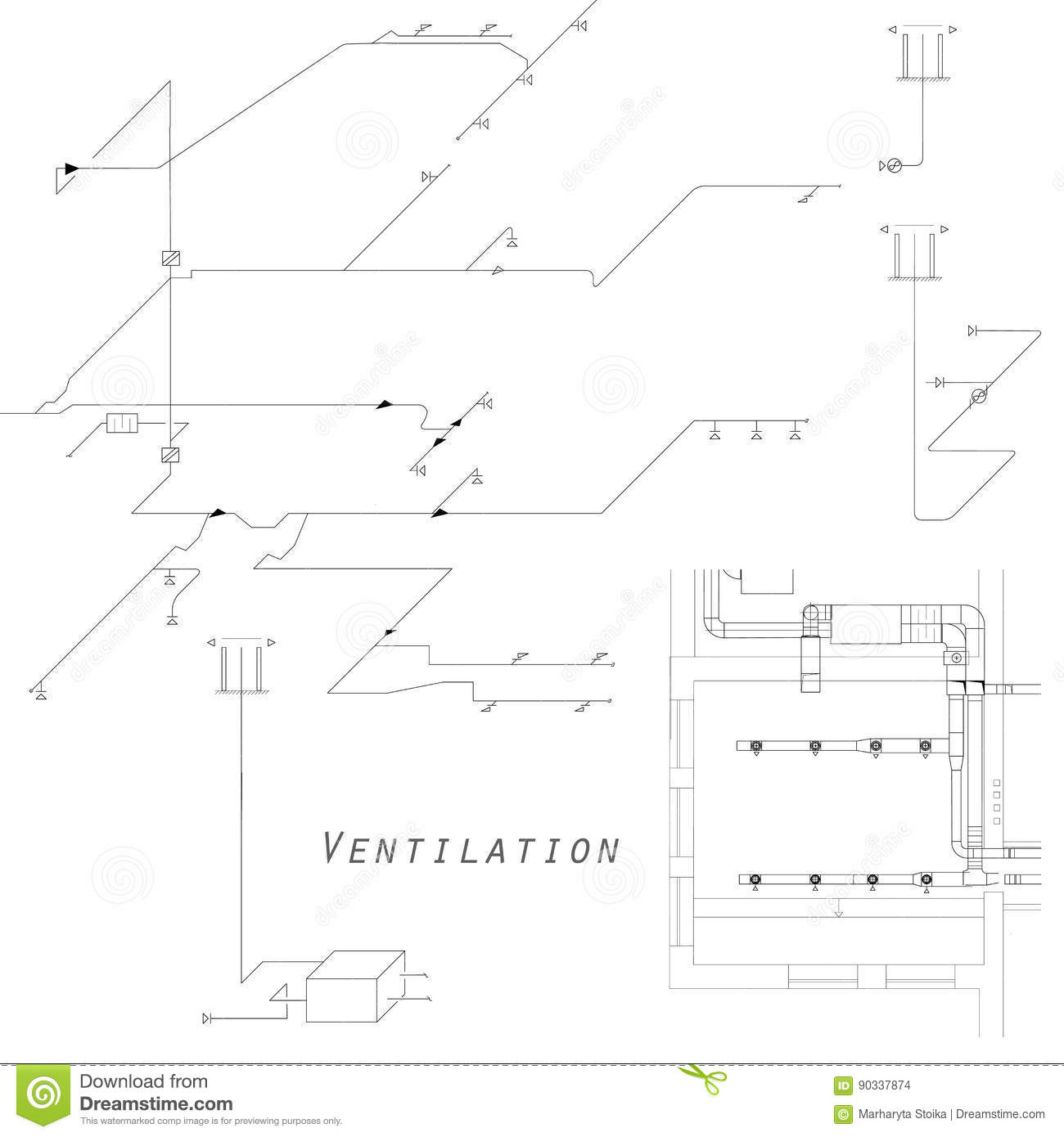 hight resolution of hvac isometric drawing wiring libraryaxonometric view of the ventilation system vector design for hvac the ducts