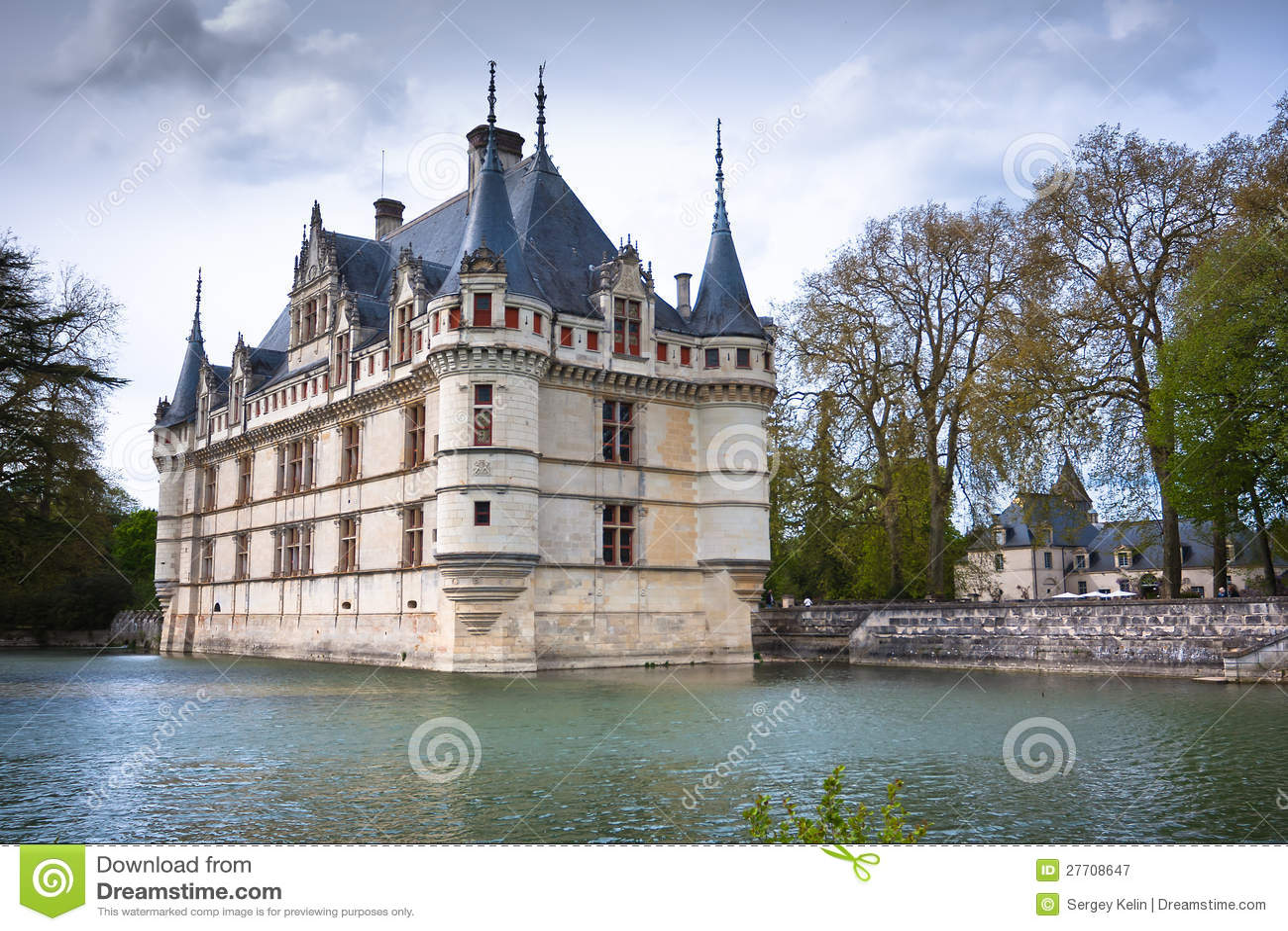 Azay Le Rideau Castle Loire Valley France Stock Image