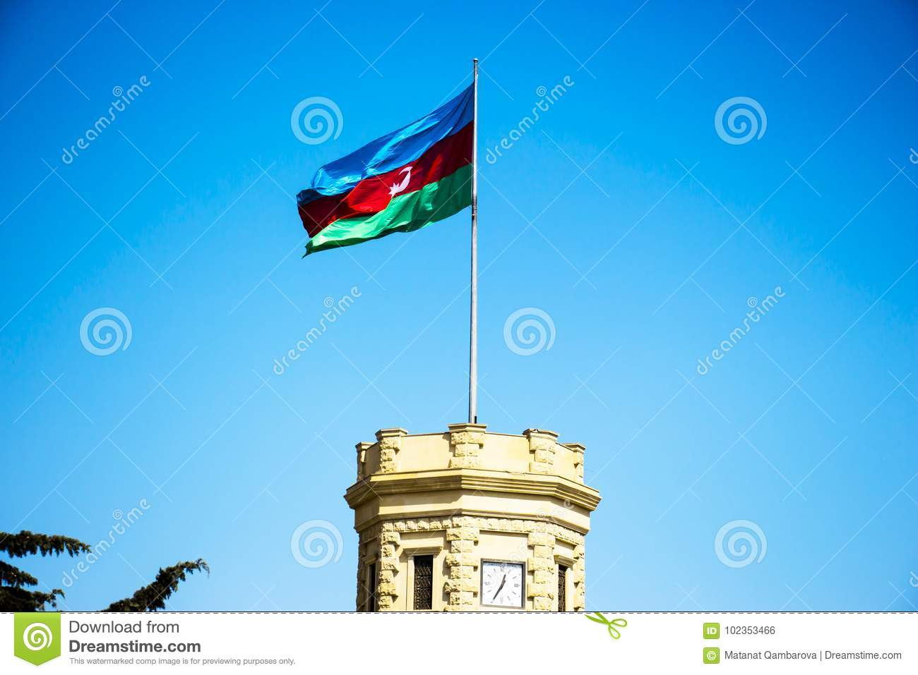 azerbaijan national muslim flag