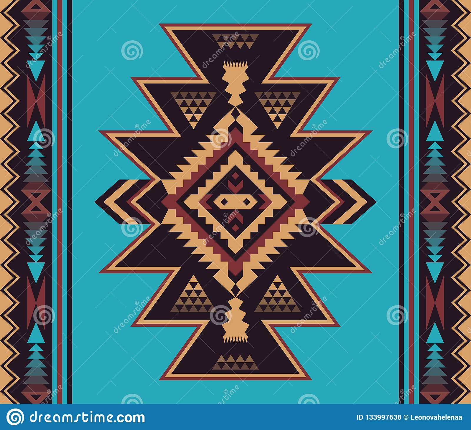 Native Southwest American Indian Aztec Navajo Seamless