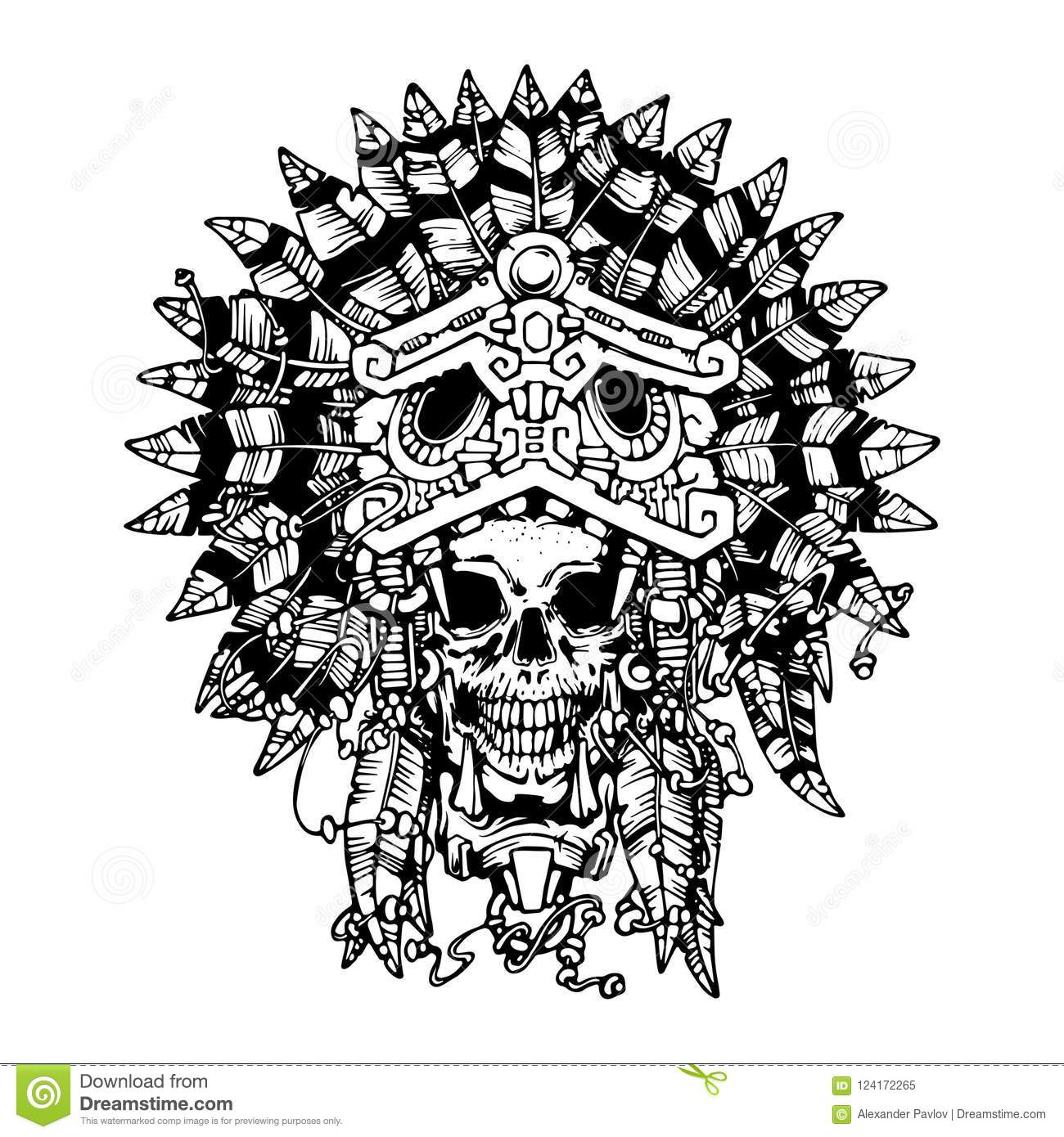 Aztec Warrior Tattoo The Skull In The Mask Of The Jaguar
