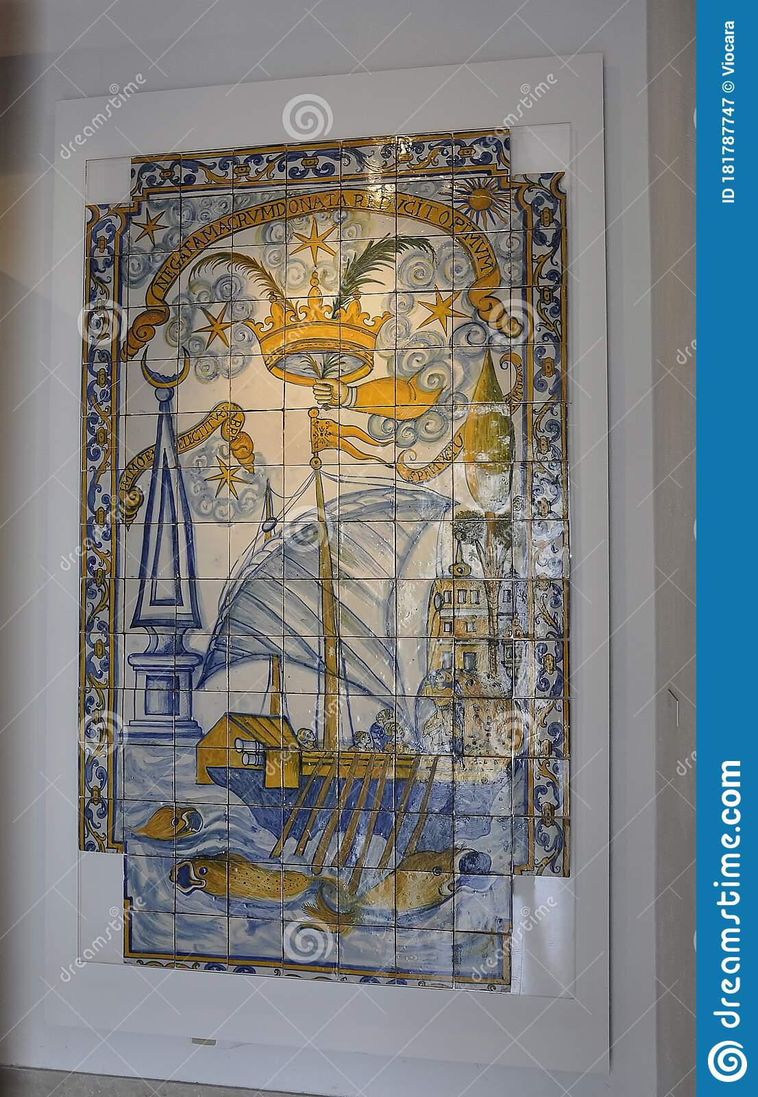 azulejos panel close up in the national tile museum interior in lisbon portugal editorial photography image of glaze frame 181787747