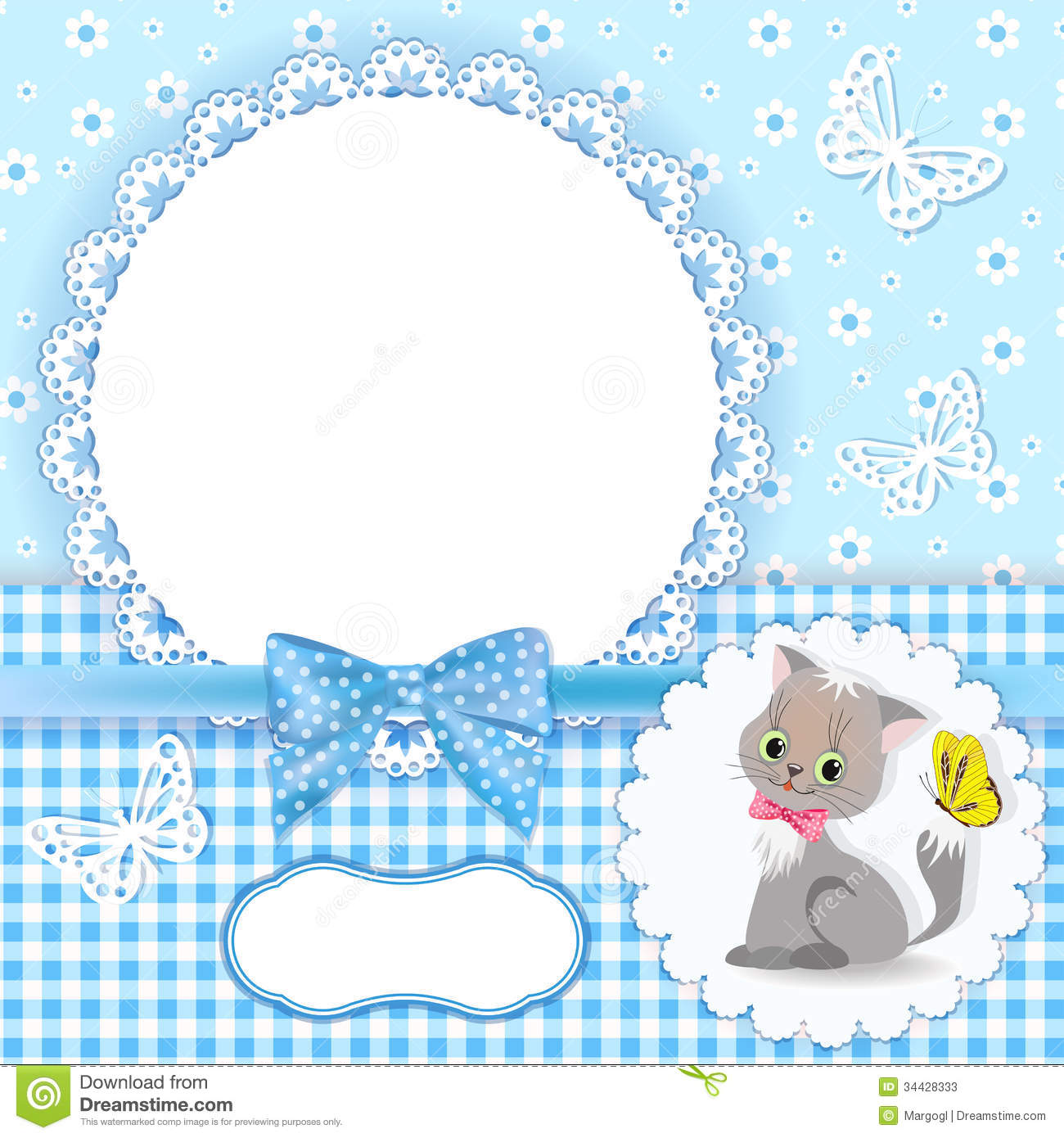 Baby Background With Frame Stock Photos  Image 34428333