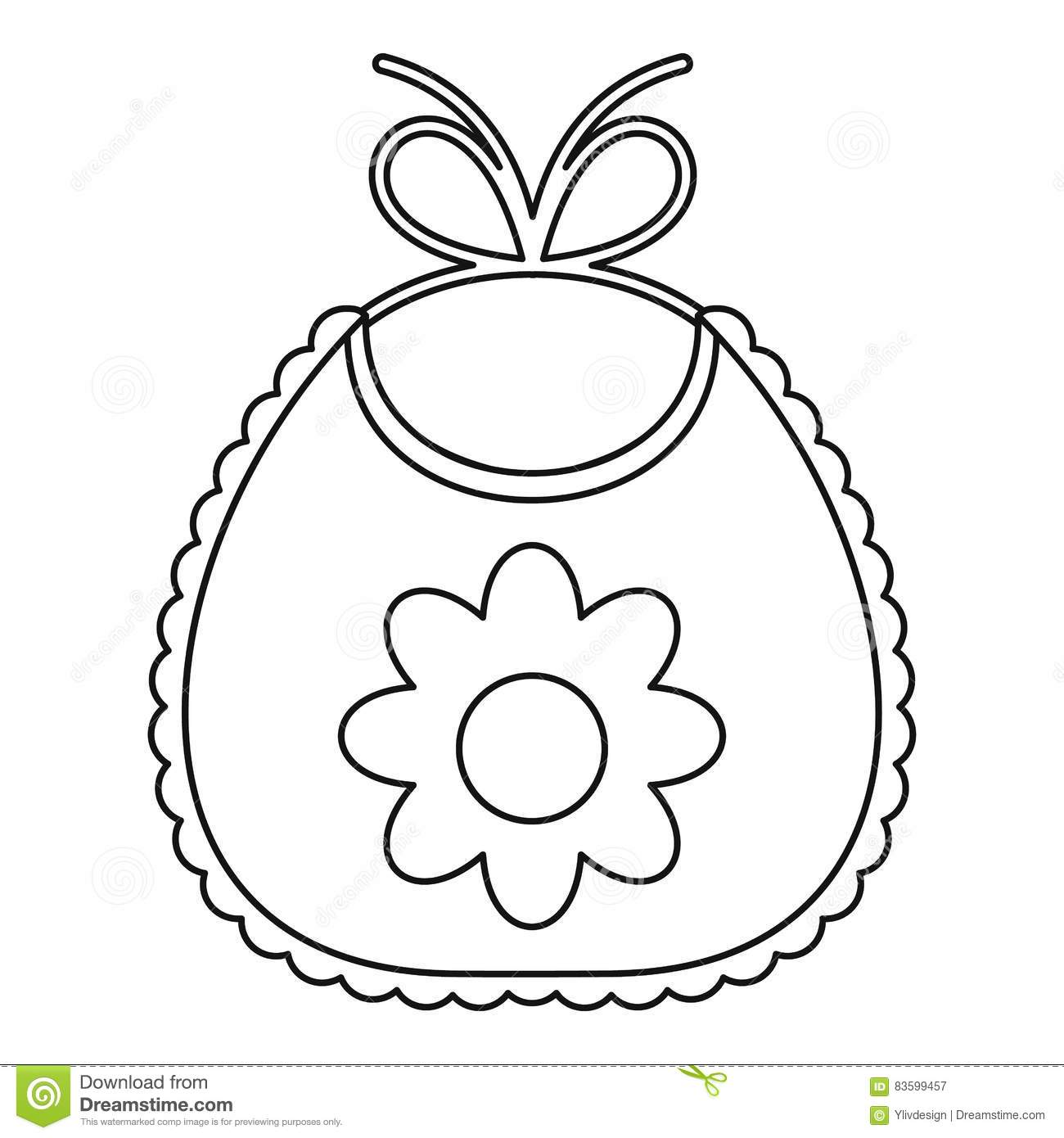 Baby Bib Pages Coloring Pages