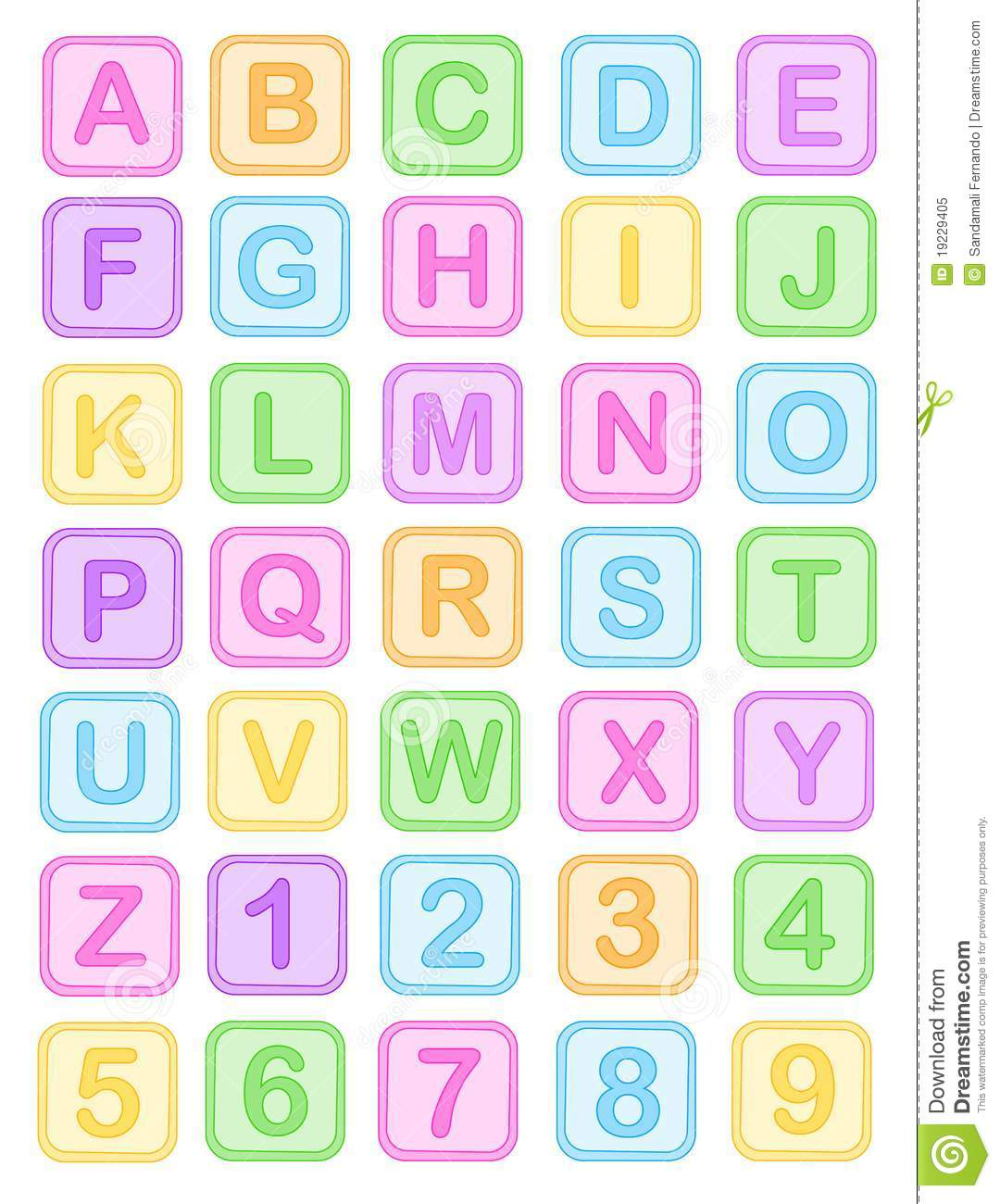 Baby Block Letters Clip Art
