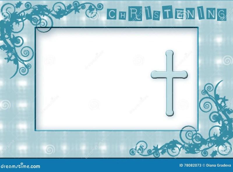 Christening Invitation Background Design For Baby Boy