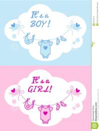 Baby Boy And Girl, Vector Background Stock Photos - Image ...