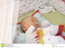 Restful Baby Boy Sleeping Bed Royalty-free Stock