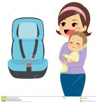 Baby Car Seat stock vector. Illustration of cartoon, chair ...