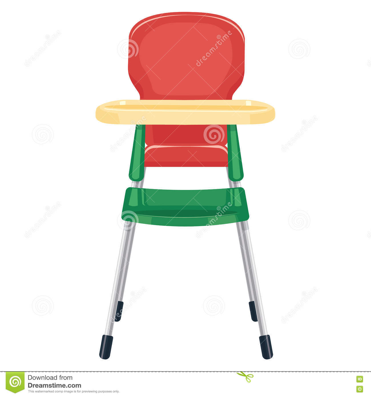 toddler chair with tray french bistro dining chairs baby vector illustration on white background stock - image: 73500368