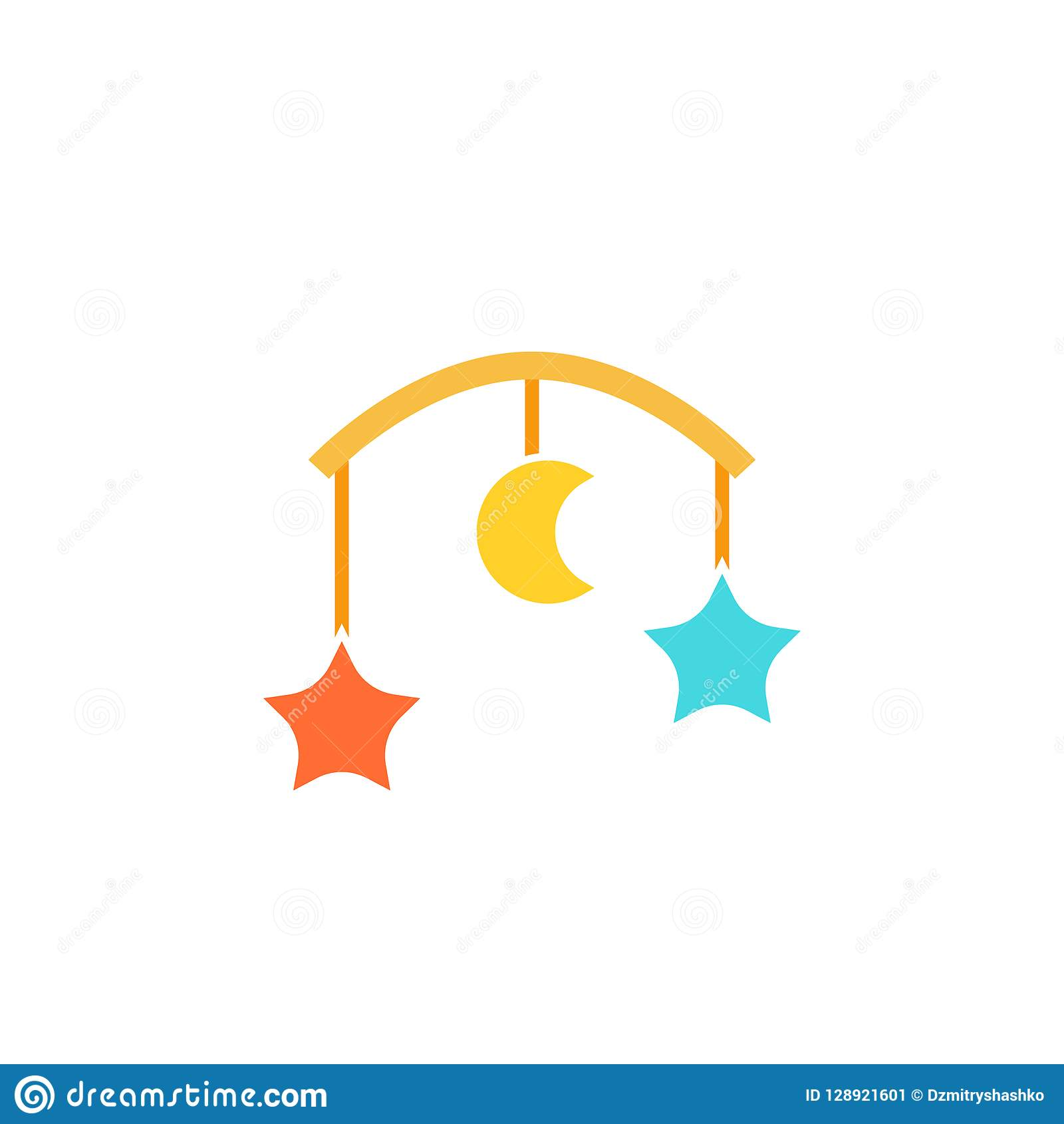 hight resolution of baby crib mobile icon clipart image isolated on white background