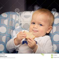 Baby High Chair For Eating Best Tailgate Chairs Bread Stock Photo - Image: 21760310