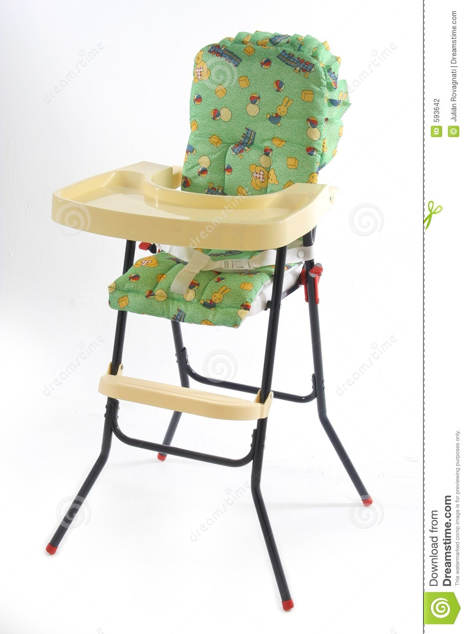 baby eating chair stock
