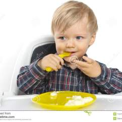 Baby Eating Chair Tullsta Cover For Sale On A Child White Stock Photos Image