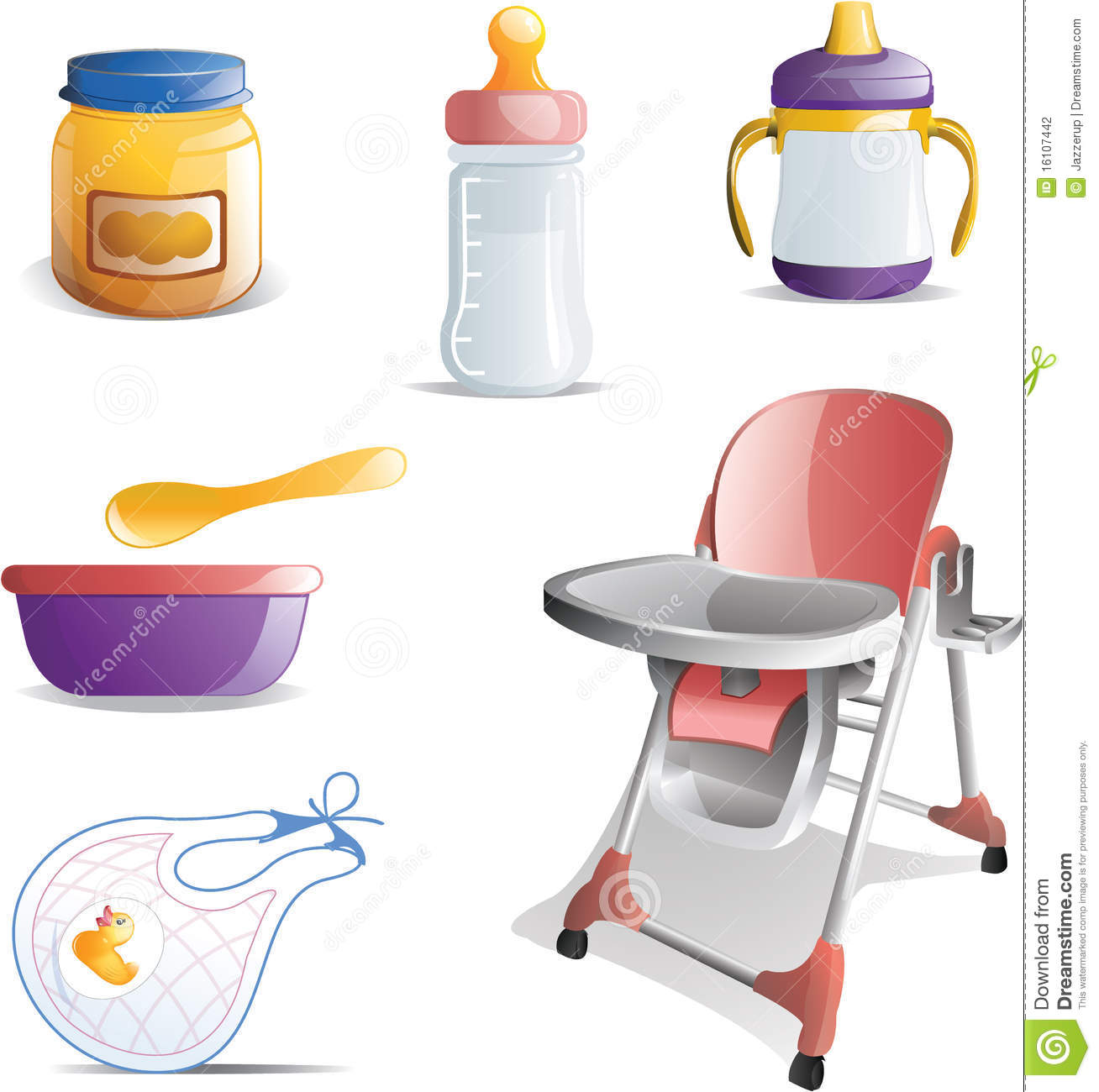 Baby Food Chair Baby Feeding Icon Set Stock Photography Image 16107442