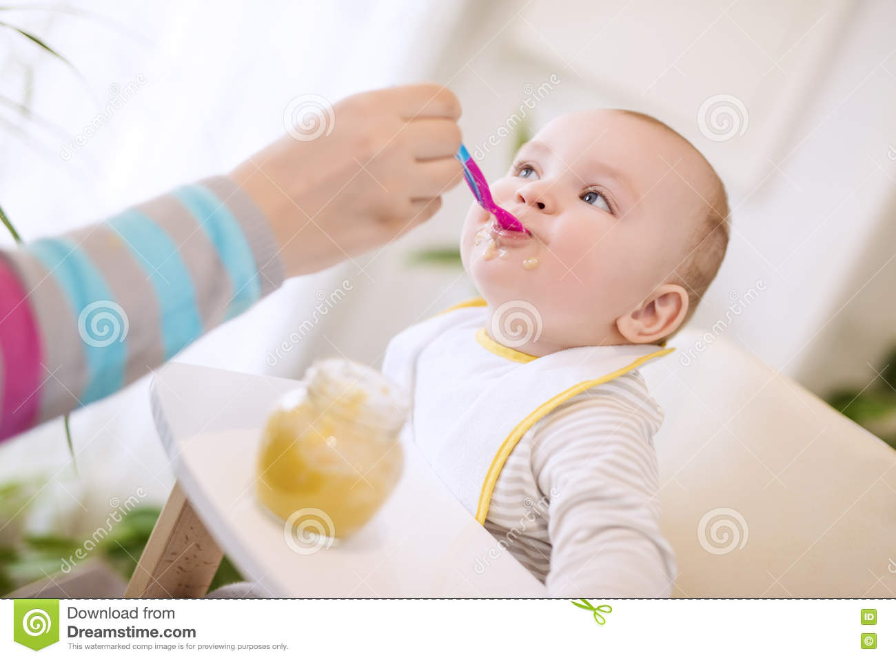 Baby Food Chair Baby Food Stock Photo Image 76569991