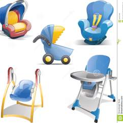 Baby Chair Carrier Deck Plans Gear Icon Set Stock Illustration Image Of Child