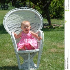 Baby Girl Chair Fisher Price Laugh Learn On In Park Royalty Free Stock Image