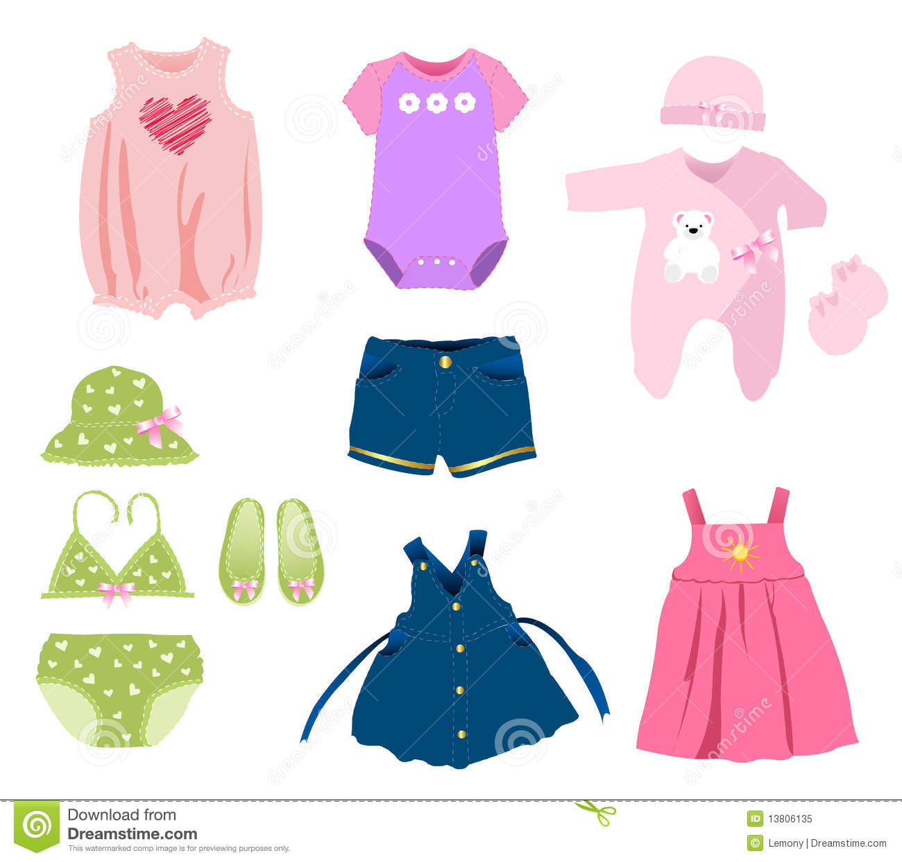 Baby Girl Clothes Royalty Free Stock Photo