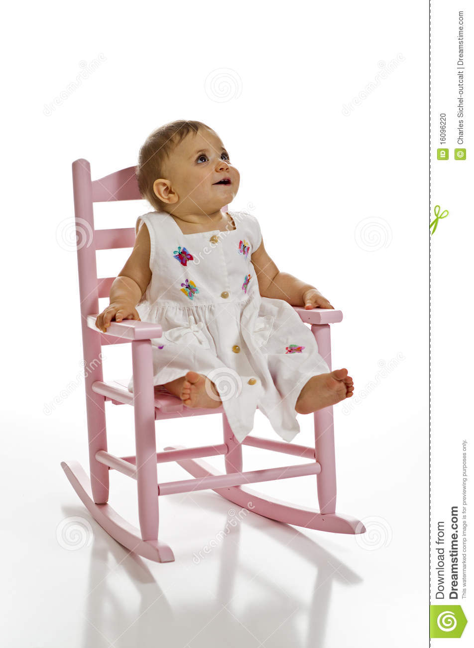 little girl rocking chair swing stand baby in stock photo image of looking 16096220