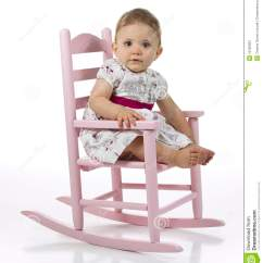 Little Rocking Chairs For Toddlers Gym Captains Chair Baby Girl In Stock Photo Image Of Looking