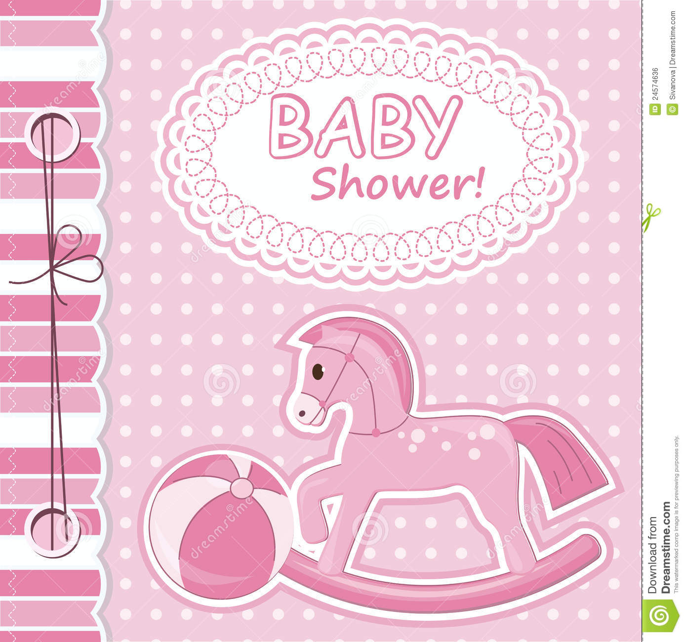 Baby Girl Scrapbook Card Stock Vector Image Of Drawing