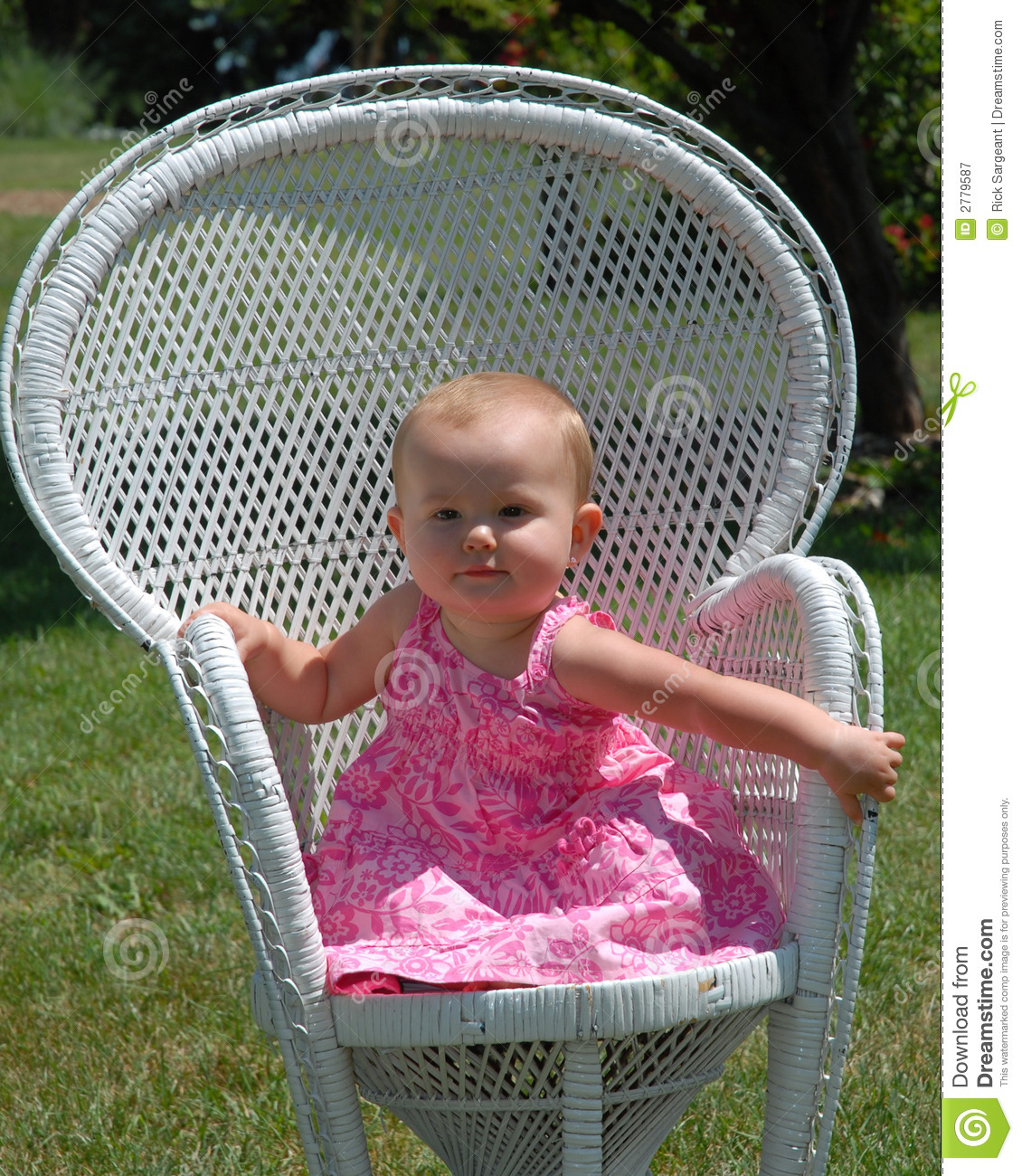 baby bamboo chair revolving cad block in white wicker stock photography