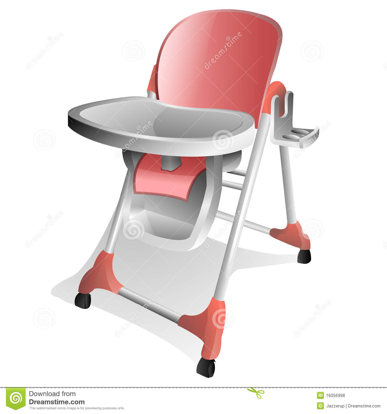 Egg Baby High Chair Baby High Chair Stock Illustration Illustration Of Furniture