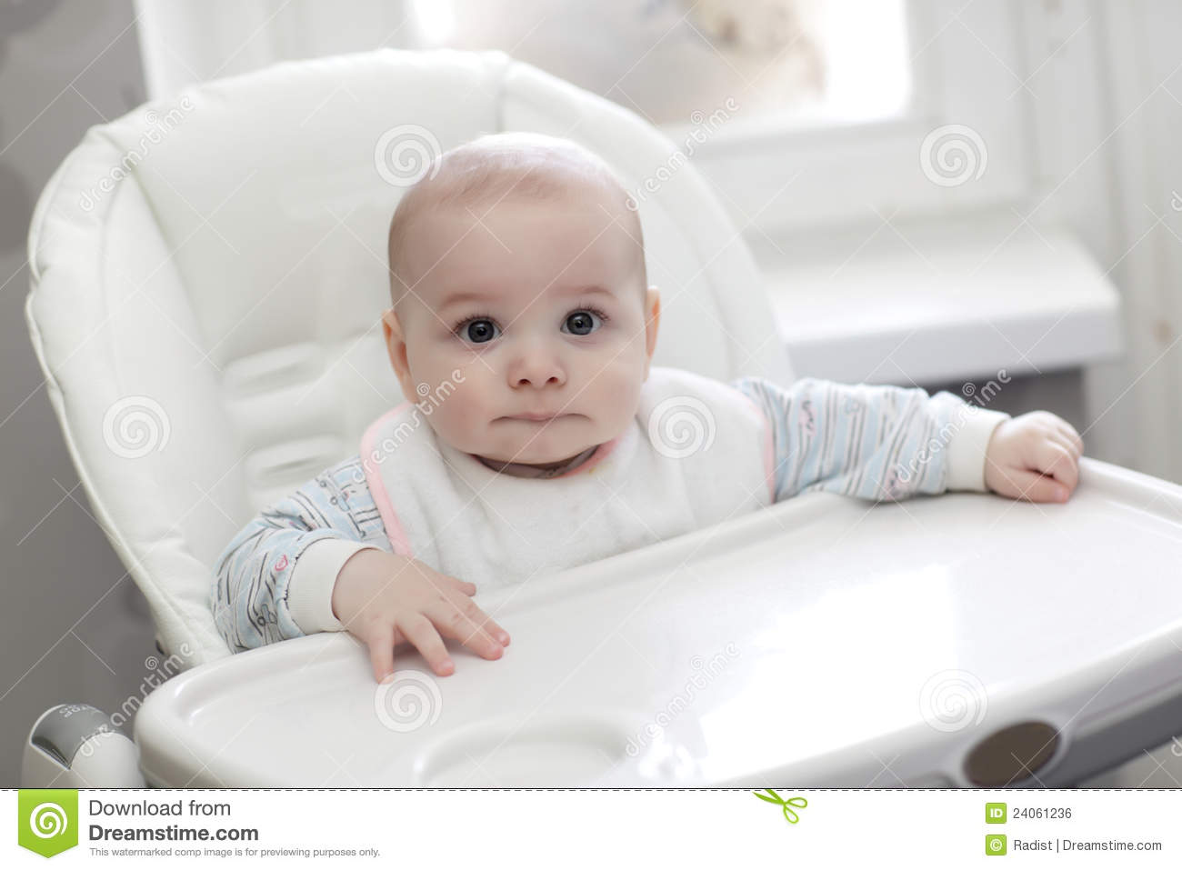 little boy chairs michigan adirondack chair baby in highchair royalty free stock image - image: 24061236