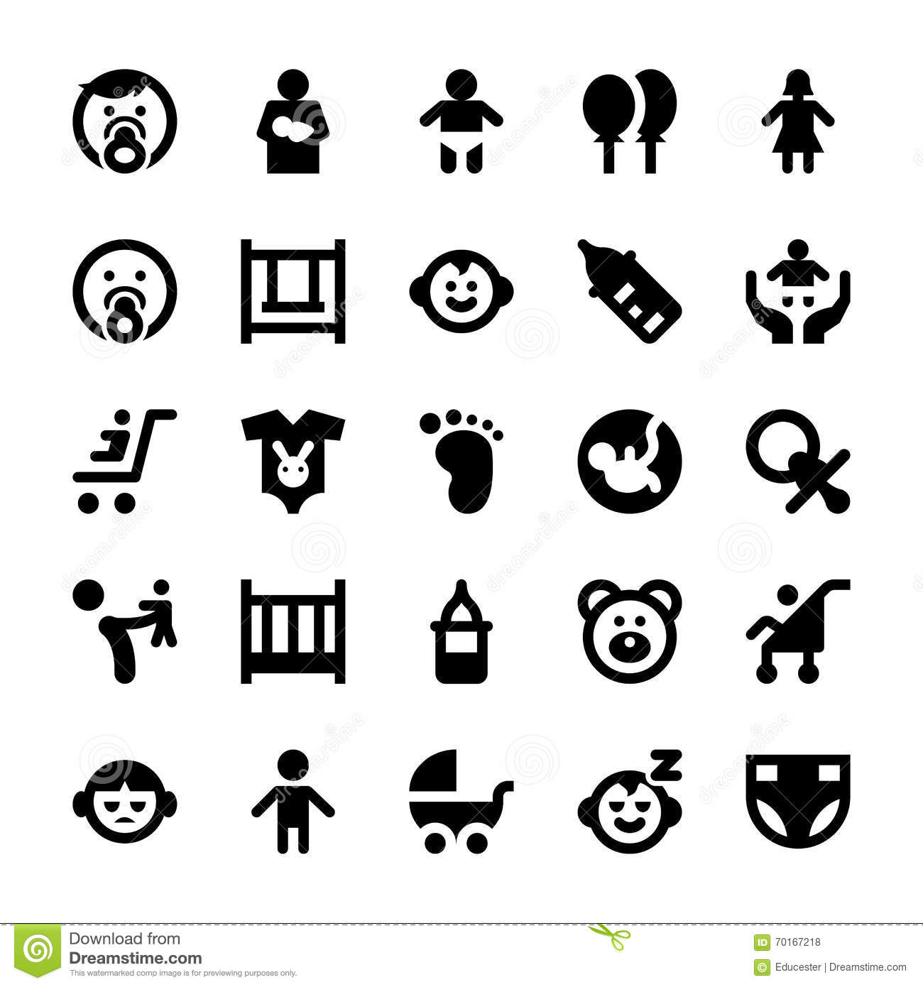 Baby And Kids Vector Icons 1 Stock Illustration