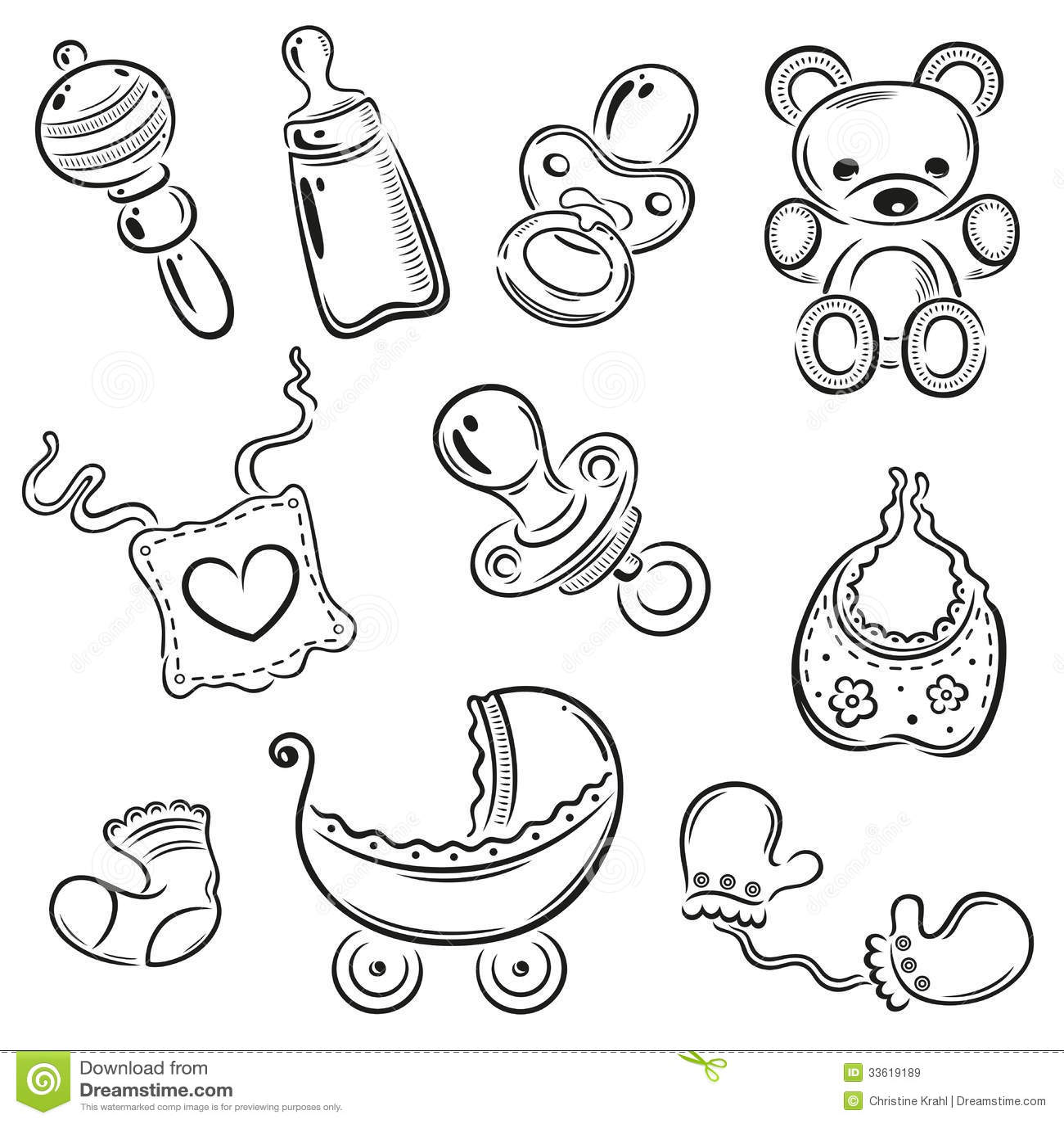 Baby Kinderen Vector Vector Illustratie Illustratie