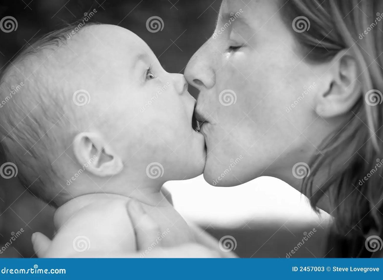 baby kiss stock photos - image: 2457003